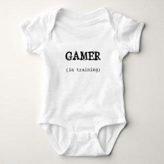 GAMER no Creeper do bebê do treinamento Body Para Bebê