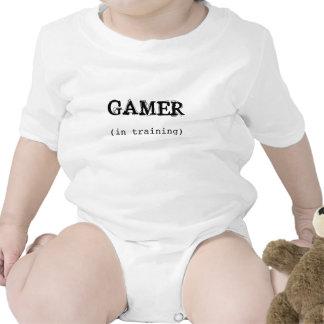 GAMER no Creeper do bebê do treinamento Macacãozinho