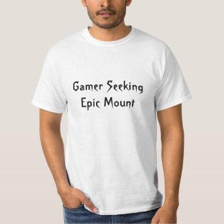Gamer que procura a montagem épico t-shirt