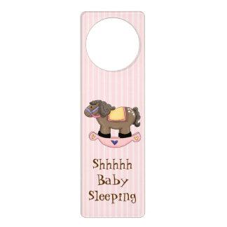 Gancho de porta do sono do bebê do cavalo de sinal de porta