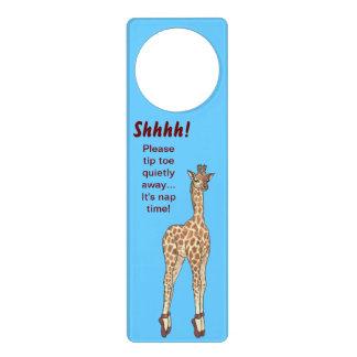 Gancho de porta do tempo da sesta do girafa do sinal para porta