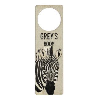 Gancho de porta estrelado da zebra sinal de porta