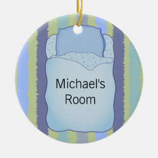 Gancho de porta personalizado 2 tomado partido ornamento de cerâmica redondo