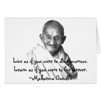 Gandhi Cartão Comemorativo