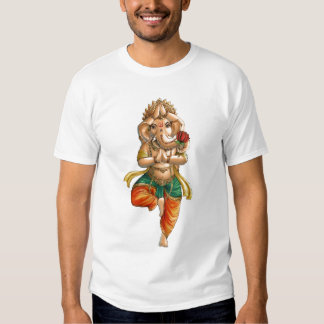 Ganesha em uma pose da ioga de Vrksasana (árvore) T-shirts