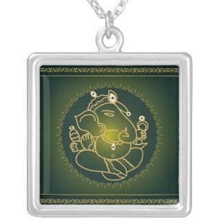 Ganesha no verde - colar