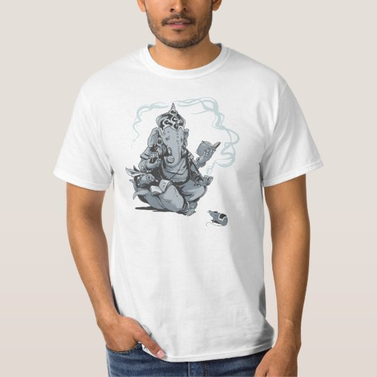 Ganesha reading camiseta