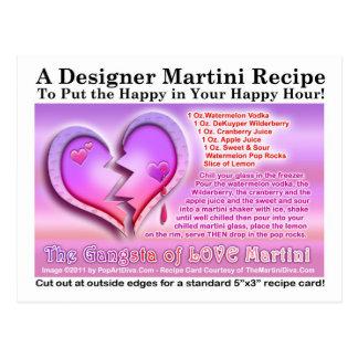 Gangsta do cartão da receita de Martini do dia dos