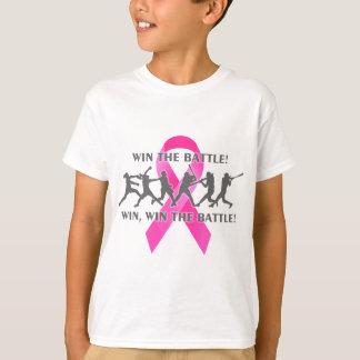 Ganhe a fita do rosa do cancro da mama do softball camiseta