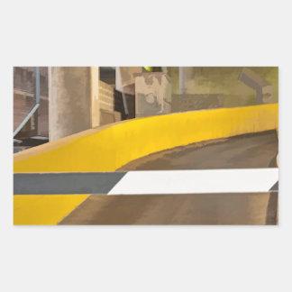 Garagem abstrata adesivo em forma retangular