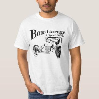 Garagem dos ossos & loja da velocidade camiseta