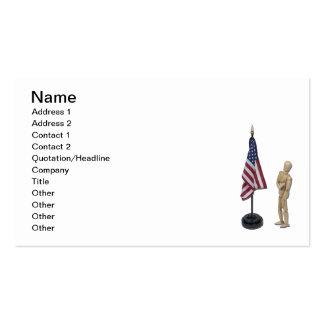 Garantia à bandeira americana modelos cartao de visita