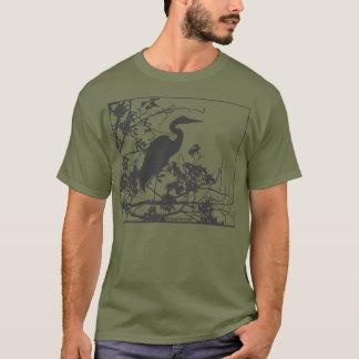 Garça-real azul camiseta