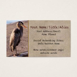 Garça-real na doca cartão de visitas