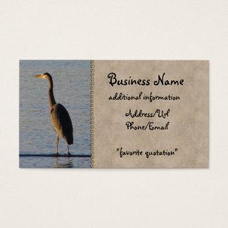 Garça-real solitária cartão de visitas