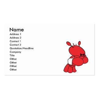 garçom da lagosta dos desenhos animados cartão de visita