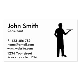 Garçom do servidor cartão de visita