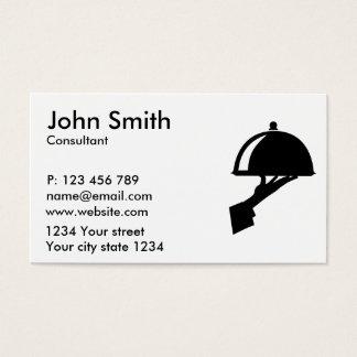 Garçom do servidor cartão de visitas