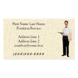 Garçom preguiçoso cartão de visita