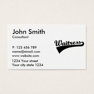 Garçonete Cartão De Visitas