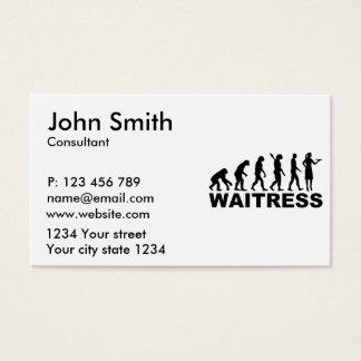 Garçonete da evolução cartão de visitas