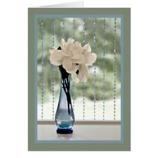 Gardenia matizado cartão comemorativo