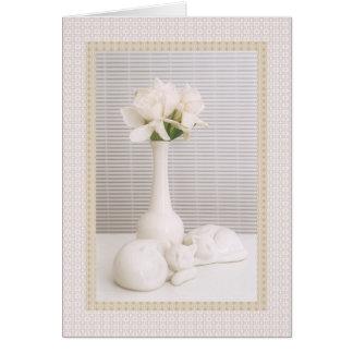 Gardenias brancos & amigos cartão comemorativo
