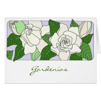 Gardenias Cartão Comemorativo