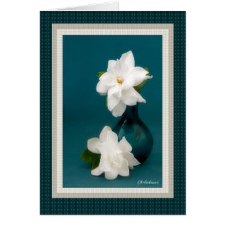 Gardenias & cerceta mim cartão comemorativo