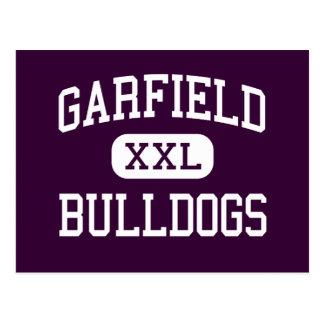 Garfield - buldogues - alto - comércio Califórnia Cartões Postais