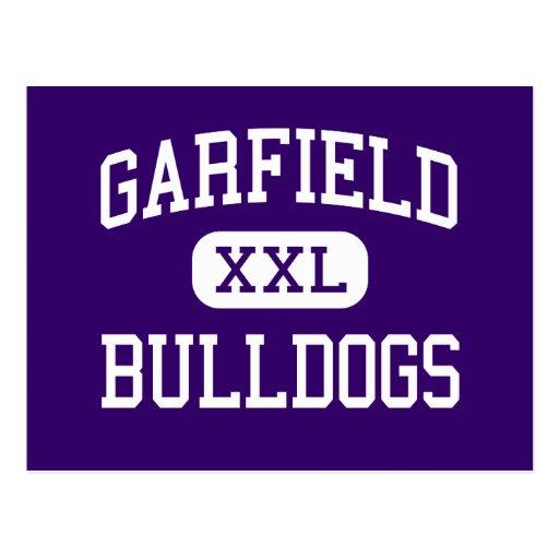 Garfield - buldogues - alto - Seattle Washington Cartoes Postais
