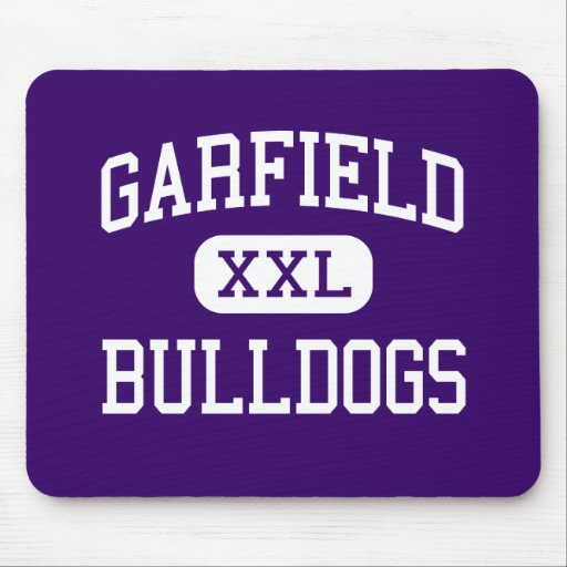 Garfield - buldogues - alto - Seattle Washington Mouse Pads
