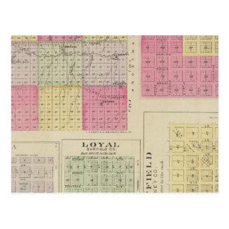 Garfield County, Creola, Ravanna, leal, Kansas Cartão Postal