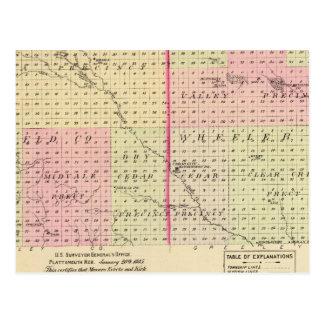 Garfield e Condado de Wheeler, Nebraska Cartão Postal