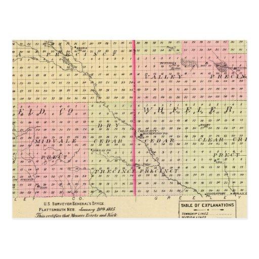 Garfield e Condado de Wheeler, Nebraska Cartões Postais