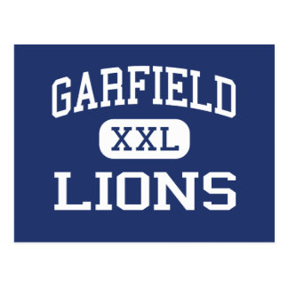 Garfield - leões - alto - San Diego Califórnia Cartoes Postais