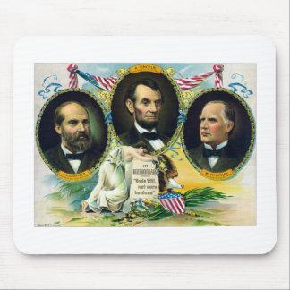 Garfield, Lincoln, e McKinley -- Em Memoriam Mouse Pad