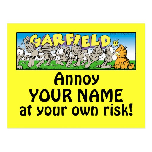 Garfield Logobox irrita-me cartão Cartão Postal