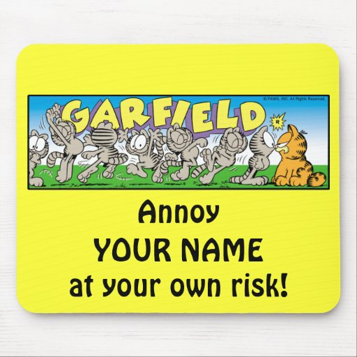 Garfield Logobox irrita-me Mousepad