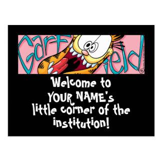 Garfield Logobox poucos cartão de canto Cartões Postais