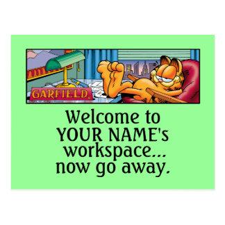 Garfield Logobox vai agora cartão ausentes Cartão Postal