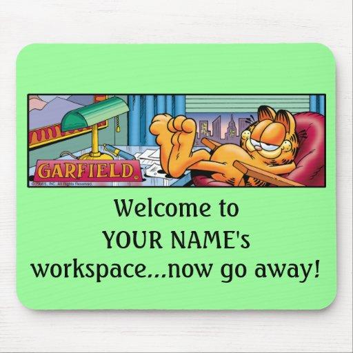 Garfield Logobox vai agora Mousepad ausente