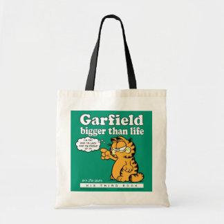 Garfield mais grande do que a sacola da vida bolsa para compra