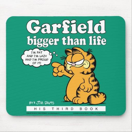 Garfield mais grande do que a vida Mousepad