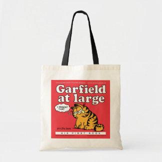 Garfield na grande sacola bolsa de lona