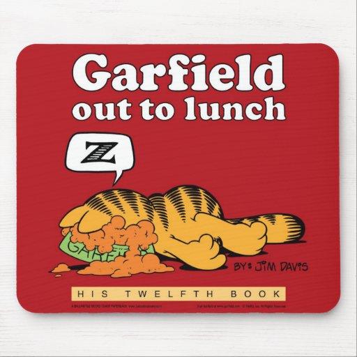 Garfield para fora a almoçar Mousepad