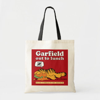 Garfield para fora a almoçar sacola bolsas de lona