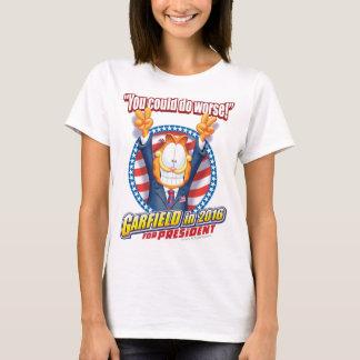 Garfield para o presidente em 2016 camiseta