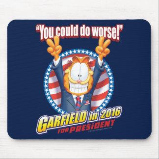 Garfield para o presidente em 2016 mouse pad