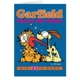 Garfield toma seu lambe o cartão de nota